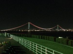 淡路サービスエリア 明石海峡大橋